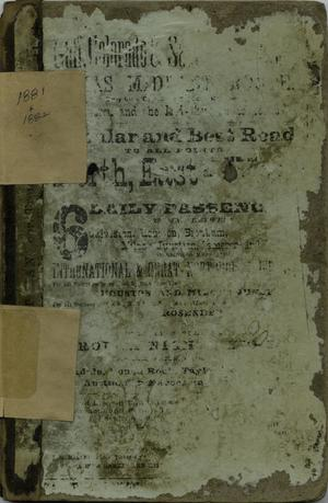 Primary view of object titled 'Morrison & Fourmy's General Directory of the City of Galveston: 1881-1882'.