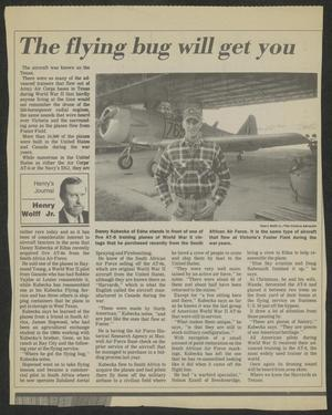 Primary view of object titled '[Clipping: The flying bug will get you]'.