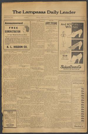 Primary view of object titled 'The Lampasas Daily Leader (Lampasas, Tex.), Vol. 29, No. 70, Ed. 1 Thursday, May 26, 1932'.