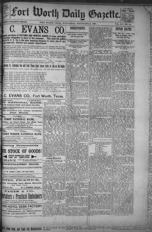 Primary view of object titled 'Fort Worth Daily Gazette. (Fort Worth, Tex.), Vol. 12, No. 40, Ed. 1, Wednesday, September 8, 1886'.