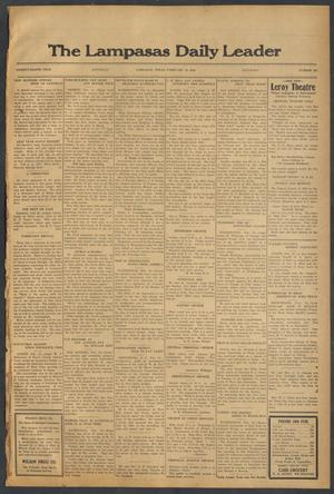 Primary view of object titled 'The Lampasas Daily Leader (Lampasas, Tex.), Vol. 28, No. 292, Ed. 1 Saturday, February 13, 1932'.