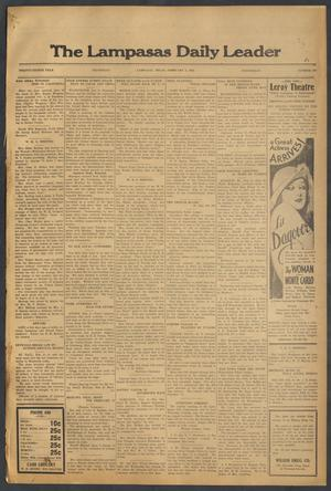 Primary view of object titled 'The Lampasas Daily Leader (Lampasas, Tex.), Vol. 28, No. 283, Ed. 1 Wednesday, February 3, 1932'.