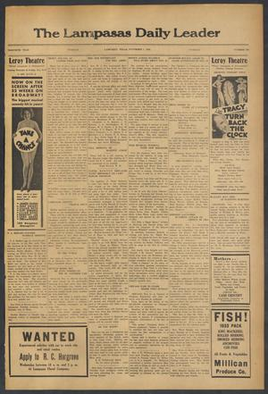 Primary view of object titled 'The Lampasas Daily Leader (Lampasas, Tex.), Vol. 30, No. 209, Ed. 1 Tuesday, November 7, 1933'.