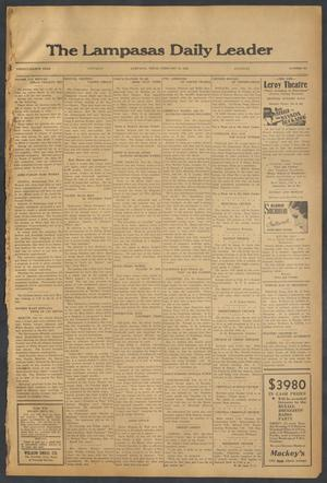 Primary view of object titled 'The Lampasas Daily Leader (Lampasas, Tex.), Vol. 28, No. 304, Ed. 1 Saturday, February 27, 1932'.
