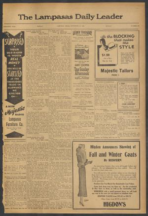 Primary view of object titled 'The Lampasas Daily Leader (Lampasas, Tex.), Vol. 30, No. 166, Ed. 1 Monday, September 18, 1933'.
