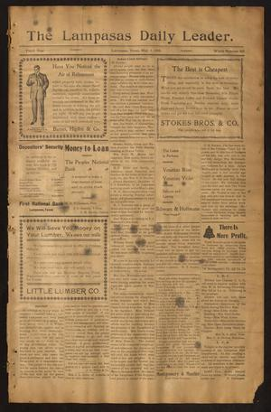 Primary view of object titled 'The Lampasas Daily Leader. (Lampasas, Tex.), Vol. 3, No. 665, Ed. 1 Tuesday, May 1, 1906'.