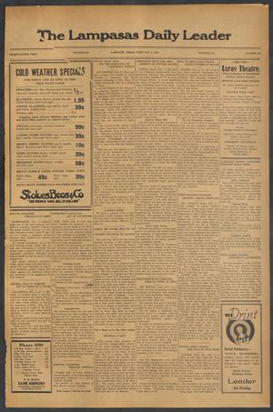 Primary view of object titled 'The Lampasas Daily Leader (Lampasas, Tex.), Vol. 29, No. 287, Ed. 1 Wednesday, February 8, 1933'.