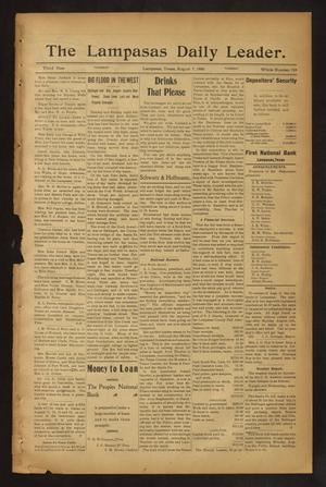 Primary view of object titled 'The Lampasas Daily Leader. (Lampasas, Tex.), Vol. 3, No. 749, Ed. 1 Tuesday, August 7, 1906'.