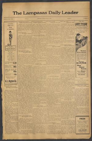 Primary view of object titled 'The Lampasas Daily Leader (Lampasas, Tex.), Vol. 29, No. 98, Ed. 1 Tuesday, June 28, 1932'.
