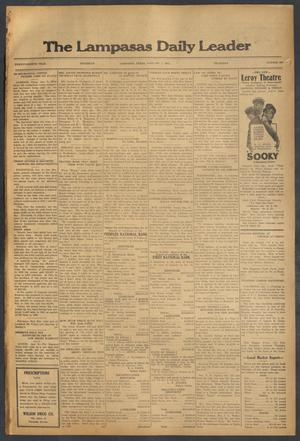Primary view of object titled 'The Lampasas Daily Leader (Lampasas, Tex.), Vol. 28, No. 260, Ed. 1 Thursday, January 7, 1932'.