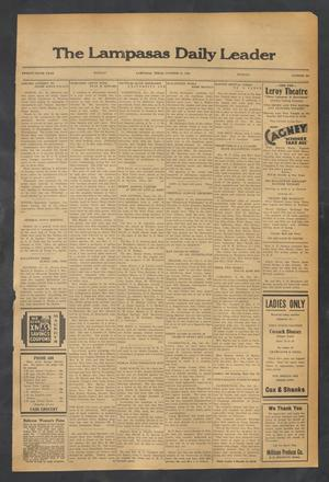 Primary view of object titled 'The Lampasas Daily Leader (Lampasas, Tex.), Vol. 29, No. 204, Ed. 1 Monday, October 31, 1932'.