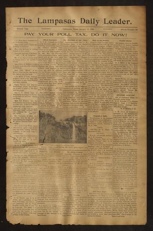 Primary view of object titled 'The Lampasas Daily Leader. (Lampasas, Tex.), Vol. 2, No. 589, Ed. 1 Wednesday, January 31, 1906'.