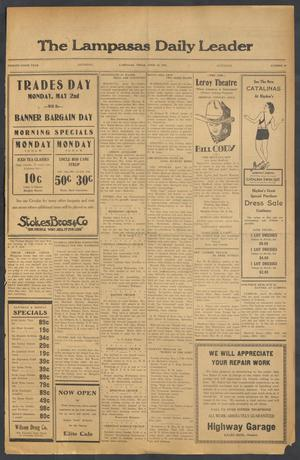 Primary view of object titled 'The Lampasas Daily Leader (Lampasas, Tex.), Vol. 29, No. 48, Ed. 1 Saturday, April 30, 1932'.