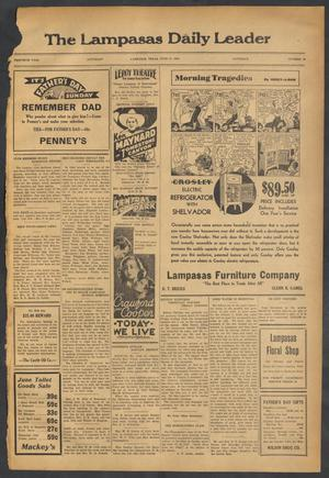 Primary view of object titled 'The Lampasas Daily Leader (Lampasas, Tex.), Vol. 30, No. 88, Ed. 1 Saturday, June 17, 1933'.