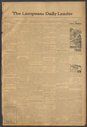 Primary view of object titled 'The Lampasas Daily Leader (Lampasas, Tex.), Vol. 29, No. 6, Ed. 1 Saturday, March 12, 1932'.