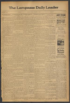 Primary view of object titled 'The Lampasas Daily Leader (Lampasas, Tex.), Vol. 30, No. 165, Ed. 1 Saturday, September 16, 1933'.