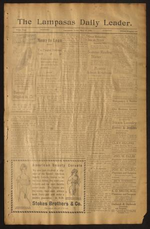 Primary view of object titled 'The Lampasas Daily Leader. (Lampasas, Tex.), Vol. 3, No. 678, Ed. 1 Wednesday, May 16, 1906'.