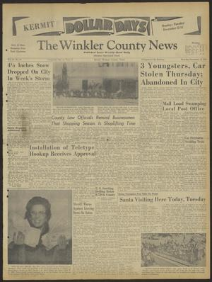 Primary view of object titled 'The Winkler County News (Kermit, Tex.), Vol. 24, No. 64, Ed. 1 Monday, December 12, 1960'.