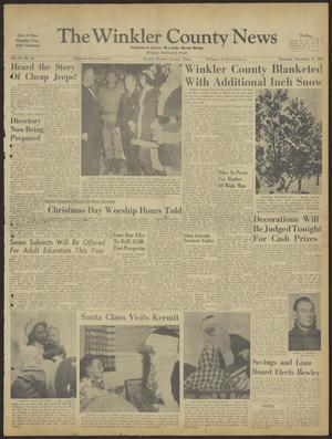 Primary view of object titled 'The Winkler County News (Kermit, Tex.), Vol. 24, No. 65, Ed. 1 Thursday, December 15, 1960'.