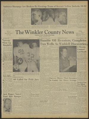 Primary view of object titled 'The Winkler County News (Kermit, Tex.), Vol. 24, No. 48, Ed. 1 Monday, October 17, 1960'.