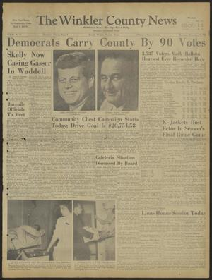 Primary view of object titled 'The Winkler County News (Kermit, Tex.), Vol. 24, No. 55, Ed. 1 Thursday, November 10, 1960'.