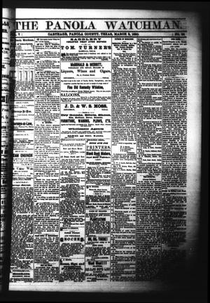 Primary view of object titled 'The Panola Watchman. (Carthage, Tex.), Vol. 7, No. 38, Ed. 1 Wednesday, March 3, 1880'.