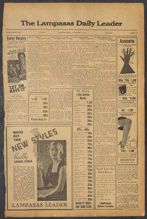 Primary view of object titled 'The Lampasas Daily Leader (Lampasas, Tex.), Vol. 32, No. 174, Ed. 1 Thursday, September 26, 1935'.