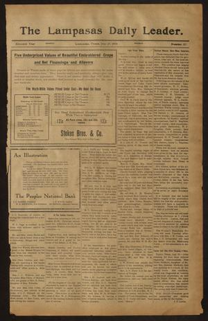 Primary view of object titled 'The Lampasas Daily Leader. (Lampasas, Tex.), Vol. 11, No. 121, Ed. 1 Monday, July 27, 1914'.