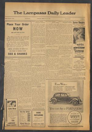 Primary view of object titled 'The Lampasas Daily Leader (Lampasas, Tex.), Vol. 32, No. 72, Ed. 1 Wednesday, May 29, 1935'.