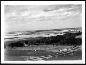 [Aerial photograph of the George Ranch site next to the highway]