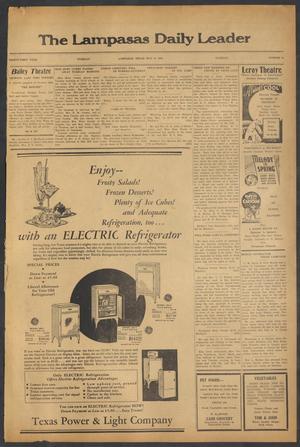 Primary view of The Lampasas Daily Leader (Lampasas, Tex.), Vol. 31, No. 54, Ed. 1 Tuesday, May 8, 1934