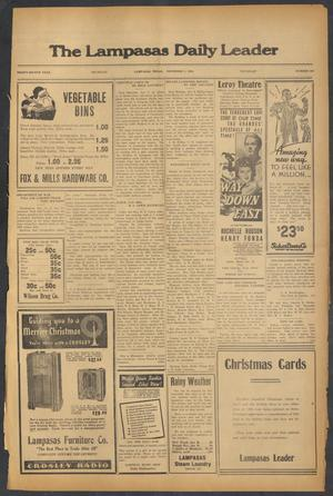 Primary view of object titled 'The Lampasas Daily Leader (Lampasas, Tex.), Vol. 32, No. 232, Ed. 1 Thursday, December 5, 1935'.