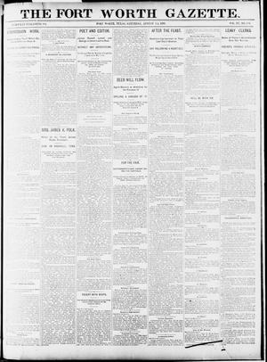 Primary view of object titled 'Fort Worth Gazette. (Fort Worth, Tex.), Vol. 15, No. 304, Ed. 1, Saturday, August 15, 1891'.