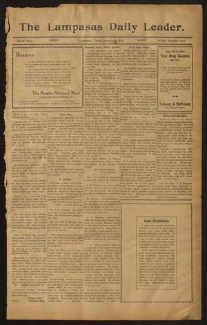 Primary view of object titled 'The Lampasas Daily Leader. (Lampasas, Tex.), Vol. 9, No. 3441, Ed. 1 Monday, January 6, 1913'.