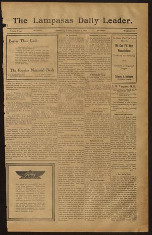 Primary view of object titled 'The Lampasas Daily Leader. (Lampasas, Tex.), Vol. 10, No. 127, Ed. 1 Saturday, August 2, 1913'.