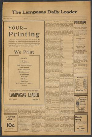 Primary view of object titled 'The Lampasas Daily Leader (Lampasas, Tex.), Vol. 31, No. 112, Ed. 1 Monday, July 16, 1934'.