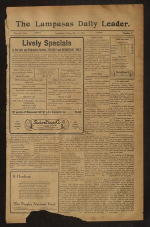 Primary view of object titled 'The Lampasas Daily Leader. (Lampasas, Tex.), Vol. 11, No. 55, Ed. 1 Monday, May 11, 1914'.
