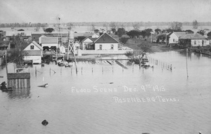 scene of flood