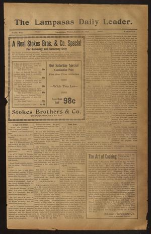 Primary view of object titled 'The Lampasas Daily Leader. (Lampasas, Tex.), Vol. 10, No. 150, Ed. 1 Friday, August 29, 1913'.