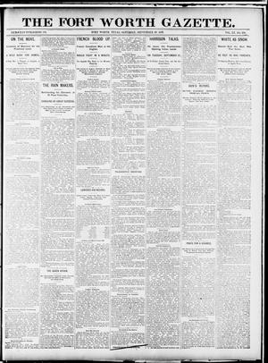 Primary view of object titled 'Fort Worth Gazette. (Fort Worth, Tex.), Vol. 15, No. 339, Ed. 1, Saturday, September 19, 1891'.