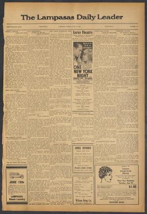 Primary view of object titled 'The Lampasas Daily Leader (Lampasas, Tex.), Vol. 32, No. 90, Ed. 1 Wednesday, June 19, 1935'.