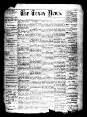 Primary view of object titled 'The Texas News. (Bonham, Tex.), Vol. 3, No. 17, Ed. 1 Saturday, January 23, 1869'.