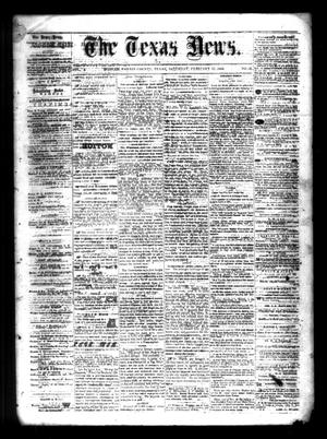 Primary view of object titled 'The Texas News. (Bonham, Tex.), Vol. 3, No. 22, Ed. 1 Saturday, February 27, 1869'.