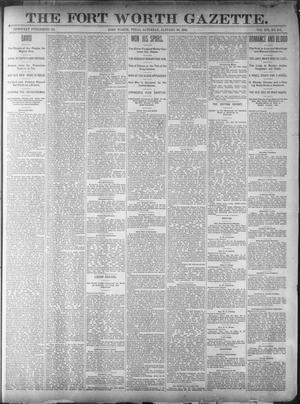 Primary view of object titled 'Fort Worth Gazette. (Fort Worth, Tex.), Vol. 16, No. 107, Ed. 1, Saturday, January 30, 1892'.