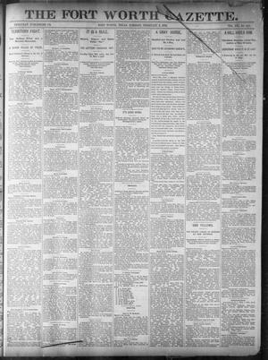 Primary view of object titled 'Fort Worth Gazette. (Fort Worth, Tex.), Vol. 16, No. 110, Ed. 1, Tuesday, February 2, 1892'.