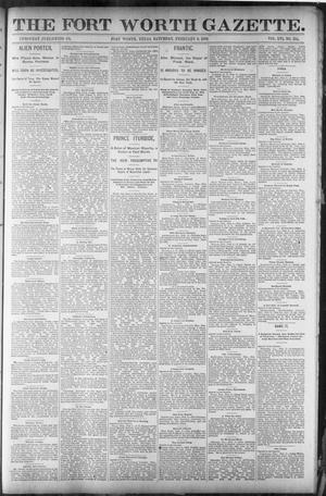 Primary view of object titled 'Fort Worth Gazette. (Fort Worth, Tex.), Vol. 16, No. 114, Ed. 1, Saturday, February 6, 1892'.