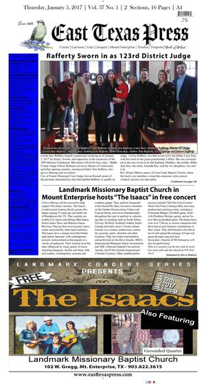 East Texas Press (Timpson, Tex.), Vol. 37, No. 1, Ed. 1 Thursday, January 5, 2017