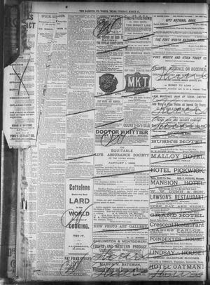Fort Worth Gazette  (Fort Worth, Tex ), Vol  16, No  152, Ed