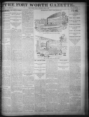 Primary view of object titled 'Fort Worth Gazette. (Fort Worth, Tex.), Vol. 17, No. 178, Ed. 1, Saturday, May 13, 1893'.