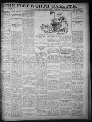 Primary view of object titled 'Fort Worth Gazette. (Fort Worth, Tex.), Vol. 17, No. 181, Ed. 1, Tuesday, May 16, 1893'.
